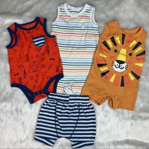 6 Baby Boy bundle bodysuit and short
